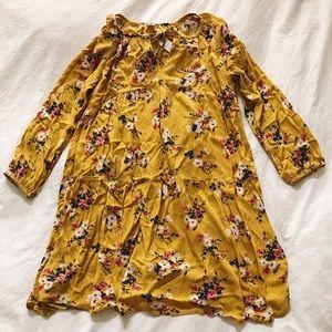 Old Navy Floral mustard swing dress